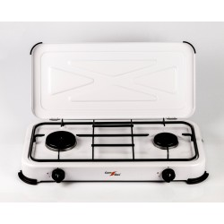 2 burner gas stove with cover.