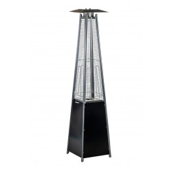 Pyramid patio heater black color