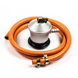 Kit Blister 1.5 meters. gas Hose + regulator 30 gr. 200072 + two hose clamps.