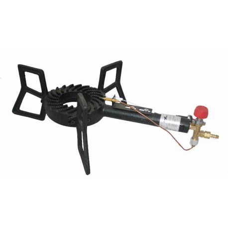 High Power Burner 5600 kcal / h. with thermocouple, spark plug and piezoelectric ignition.