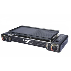Portable gas cooker 2 burners. + Casting aluminium plate.