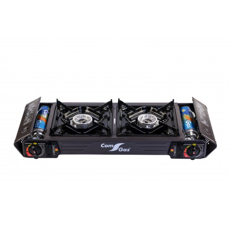 Portable gas cooker 2 burners.