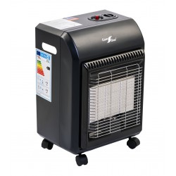 Infrared radiant gas heater for camping-gaz bottle.